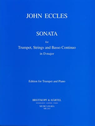 John Eccles - Sonata - Partition - di-arezzo.fr