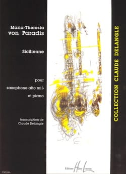 Paradis Maria-Theresia Von - Sicilienne - Partition - di-arezzo.fr