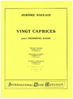 Jérôme Naulais - 20 Caprices for Bass Trombone - Sheet Music - di-arezzo.com