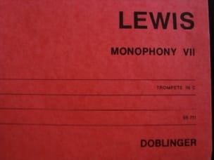 Robert Hall Lewis - Monophony VII - Partition - di-arezzo.fr