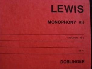 Robert Hall Lewis - Monophony VII - Sheet Music - di-arezzo.com