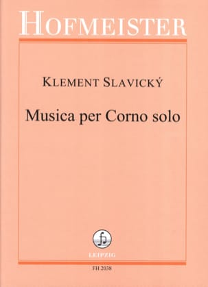 Klement Slavicky - Musica Per Corno Solo - Partition - di-arezzo.fr