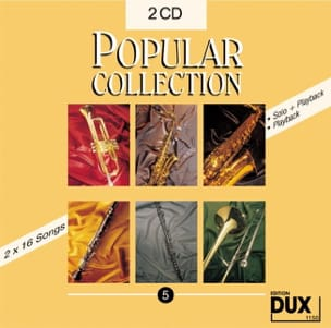 CD Popular collection volume 5 Partition Saxophone - laflutedepan