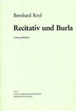 Recitativ Und Burla Bernhard Krol Partition Tuba - laflutedepan