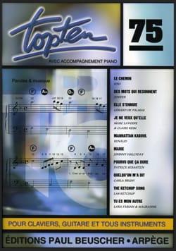 Topten 75 - Partition - Chanson française - laflutedepan.com