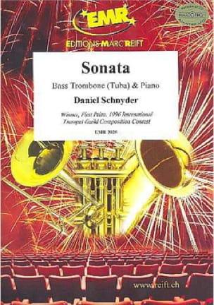 Sonata - Daniel Schnyder - Partition - Trombone - laflutedepan.com