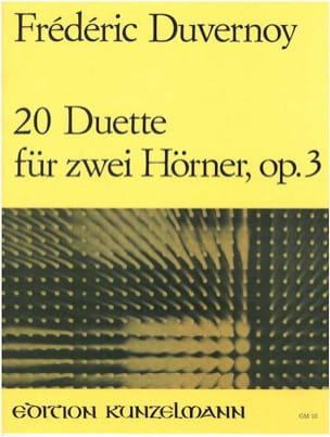 Frédéric Duvernoy - 20 Duette Opus 3 - Partition - di-arezzo.fr