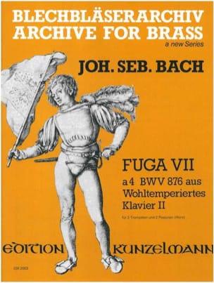 BACH - Fuga VII à 4 BWV 876 - Partition - di-arezzo.fr