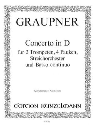 Christoph Graupner - Concerto In D - Partition - di-arezzo.fr