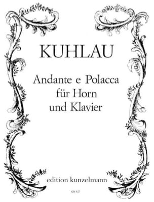 Friedrich Kuhlau - Andante E Polacca - Partition - di-arezzo.fr