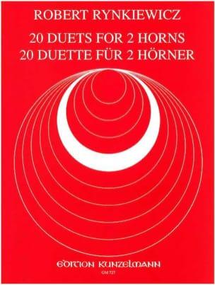 20 Duets - Robert Rynkiewicz - Partition - Cor - laflutedepan.com