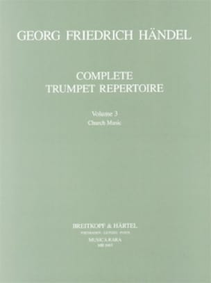 HAENDEL - Complete Trumpet Repertoire Volume 3 - Sheet Music - di-arezzo.co.uk
