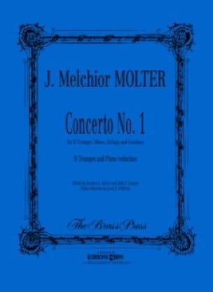 Concerto N° 1 - J. Melchior Molter - Partition - laflutedepan.com