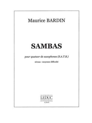 Sambas - Maurice Bardin - Partition - Saxophone - laflutedepan.com