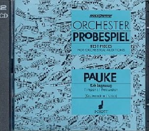 - CD - Orchester Probespiel - Timbales - Partition - di-arezzo.fr
