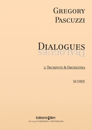 Gregory Pascuzzi - Dialogues - Partition - di-arezzo.fr
