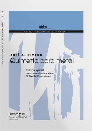 Quintetto Para Metal - José A. Gimeno - Partition - laflutedepan.com