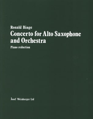 Ronald Binge - Concerto For Alto Saxophone - Sheet Music - di-arezzo.co.uk