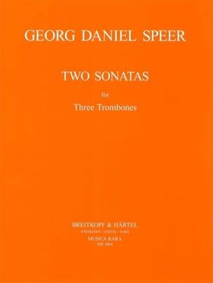 Daniel Speer - Two Sonatas - Partition - di-arezzo.fr