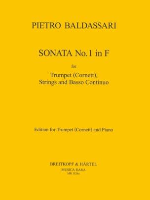 Pietro Baldassare - Sonata N° 1 In F - Partition - di-arezzo.fr
