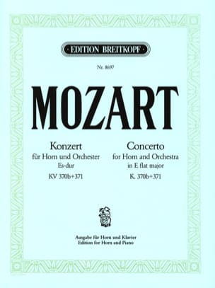 Wolfgang Amadeus Mozart - Concerto In E Flat Major K. 370b+371 - Partition - di-arezzo.fr
