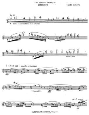 Lucie Robert - Rhapsody - Sheet Music - di-arezzo.co.uk