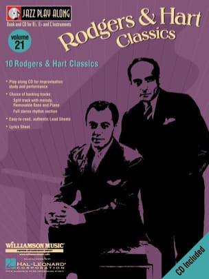 Rodgers R. / Hart L. - Jazz play-along volume 21 - Rodgers And Hart Classics - Partition - di-arezzo.fr