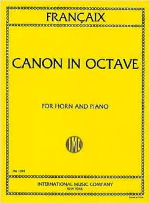 Jean Francaix - Canon In Octave - Partition - di-arezzo.com