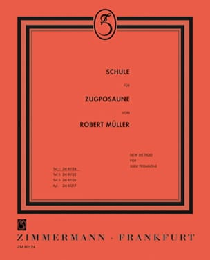 Robert Müller - Schule Für Zugposaune Volume 1 - Sheet Music - di-arezzo.com