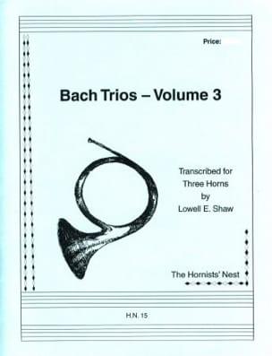 Bach Trios Volume 3 BACH Partition Cor - laflutedepan