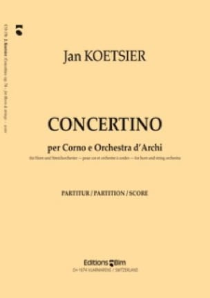Concertino Jan Koetsier Partition Cor - laflutedepan
