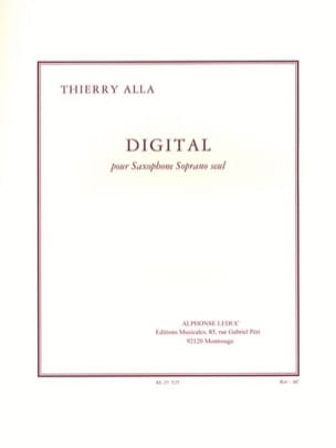 Digital Thierry Alla Partition Saxophone - laflutedepan
