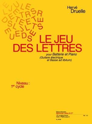 Hervé Druelle - Le Jeu Des Lettres - Partition - di-arezzo.fr