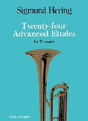 24 Advanced Etudes For Trumpet Sigmund Hering Partition laflutedepan