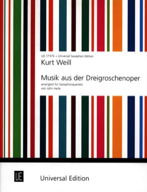 Kurt Weill - Music From The Threepenny Opera - Partition - di-arezzo.fr