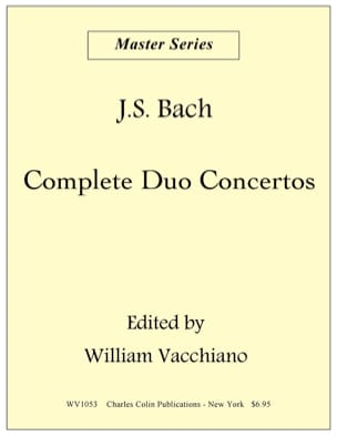 Duo Concerto In C Major BWV 1053 - BACH - Partition - laflutedepan.com