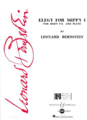 Leonard Bernstein - Elégy For Mippy 1 - Partition - di-arezzo.fr