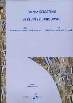 28 Etudes de Virtuosité Patrice Sciortino Partition laflutedepan