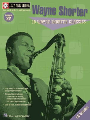 Wayne Shorter - Jazz play-along volume 22 - Wayne Shorter - Partition - di-arezzo.fr