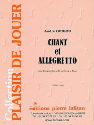 Chant Et Allegretto - André Guigou - Partition - laflutedepan.com