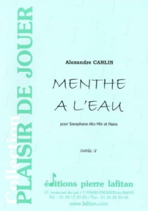 Alexandre Carlin - Mint with water - Sheet Music - di-arezzo.com