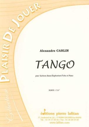 Alexandre Carlin - Tango - Partition - di-arezzo.fr