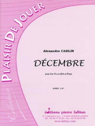 Alexandre Carlin - December - Sheet Music - di-arezzo.com