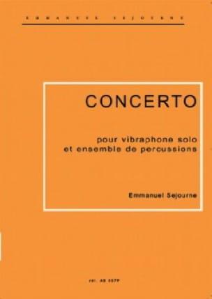 Concerto Pour Vibraphone Emmanuel Séjourné Partition laflutedepan