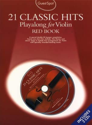 - Guest Spot - Red Book 21 Classic Hits Playalong For Violin - Partition - di-arezzo.fr