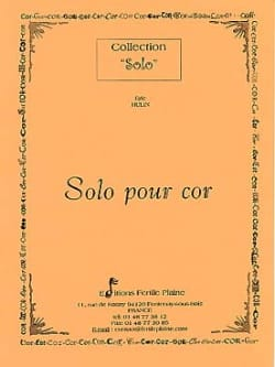 Eric Hulin - Solo for Horn - Sheet Music - di-arezzo.com