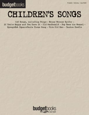 Budget books - Children's songs Partition laflutedepan