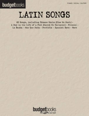 Budget books - Latin songs - Partition - di-arezzo.fr