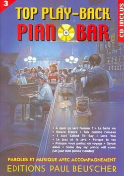 Top Play-Back Piano Bar Volume 3 - Partition - di-arezzo.fr