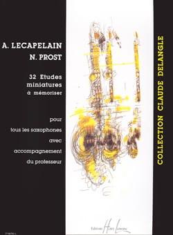 Anne Lecapelain & Nicolas Prost - 32 Etudes Miniatures A Mémoriser - Partition - di-arezzo.fr